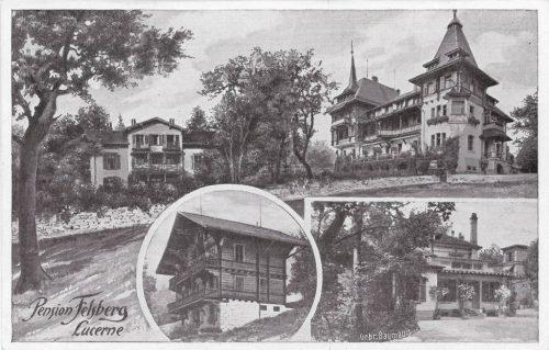 Pension Felsberg. Postkarte, Verlag Baumann, in Privatbesitz