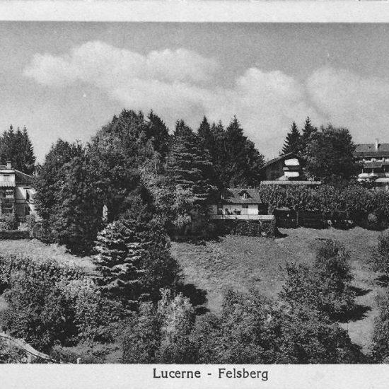 Luzern, Felsberg. Postkarte, Verlag Goetz Nr. 10010, versendet 1925, in Privatbesitz
