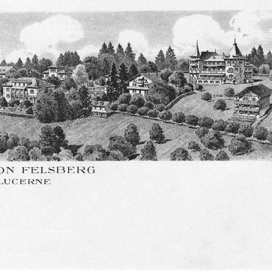 Pension Felsberg. Postkarte, Verlag Huber & Amacher, in Privatbesitz
