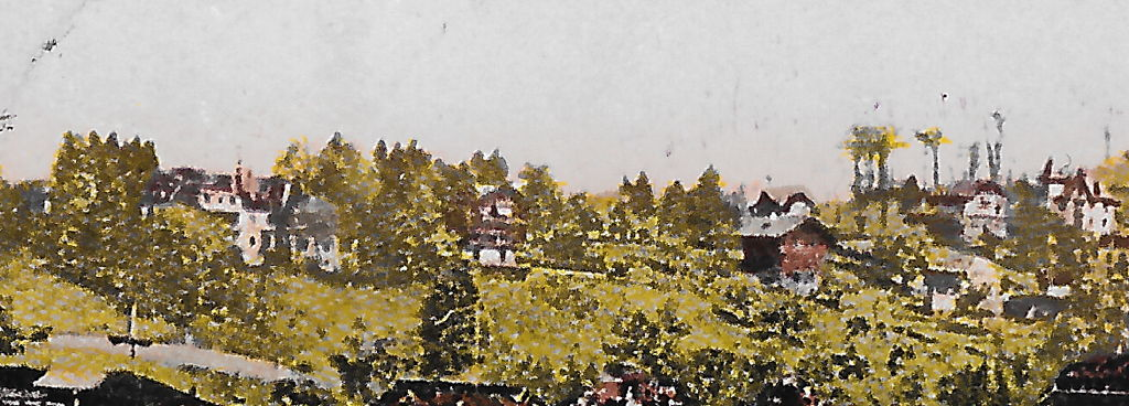 Pension Felsberg, Ansicht, Ausschnitt aus: Postkarte, Verlag Photoglob Nr. 2054, in Privatbesitz