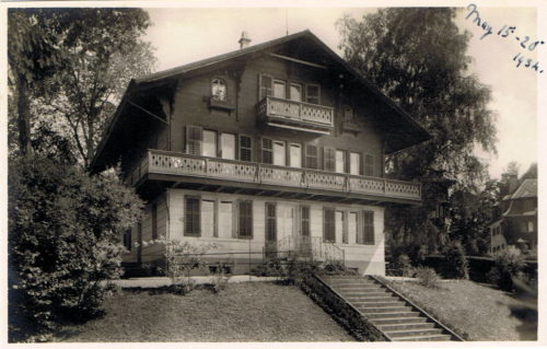 Chalet Felsberg. Postkarte, Verlag Frobenius, versendet 1934, in Privatbesitz