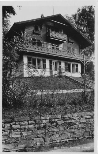Chalet Felsberg. Postkarte, Verlag Goetz Nr. 5181, versendet 1937, in Privatbesitz